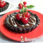Meggyes-csokoládés mini pite, sütés nélkül 2