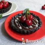 Meggyes-csokoládés mini pite, sütés nélkül 3
