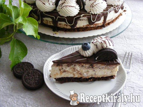 Oreós, joghurtos Túró Rudi torta