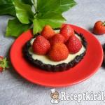 Sütés nélküli fehércsokoládés-epres mini pite 4