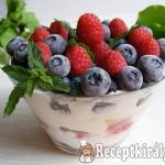 Gyümölcsös, túrókrémes pohárdesszert 1