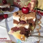 Krémes cseresznyés sütemény 1