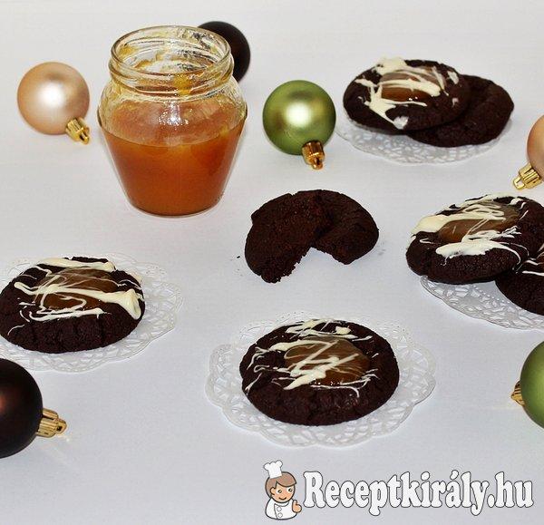 Csokis-lekváros keksz