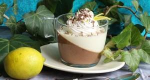Csokoládé és fehércsokoládé lime panna cotta