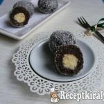 Karácsonyi kókusztöltelékes csokis golyók 1