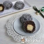 Karácsonyi kókusztöltelékes csokis golyók