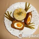 Lágy főtt tojás panírozott fasírtbundában 1