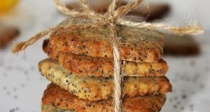 Mákos-marcipános keksz