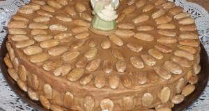 Mokkakrémes mandulatorta