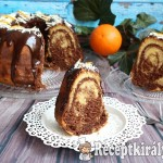 Csokoládés-narancsos márványos kuglóf 2