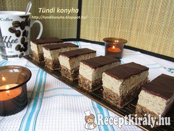 Diós-kávékrémes sütemény