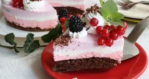 Gyümölcsös túrókrém torta