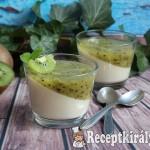 Kivis-vaníliás panna cotta