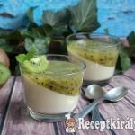 Kivis-vaníliás panna cotta 2