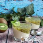Kivis-vaníliás panna cotta 3