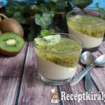 Kivis-vaníliás panna cotta 4