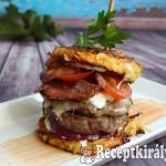 Zöldséges röszti burger