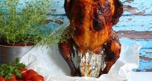 Sörön sült mázas csirke