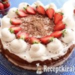 Csokoládékrémes tejszínes epertorta 1