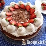 Csokoládékrémes tejszínes epertorta 2