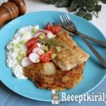 Roston harcsafilé tócsnival és joghurtos salátával 1