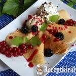 Amerikai palacsinta erdei gyümölcsökkel és fagyival 1