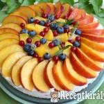 Citromos joghurttorta nyári gyümölcsökkel 1