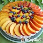 Citromos joghurttorta nyári gyümölcsökkel