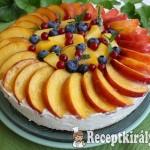 Citromos joghurttorta nyári gyümölcsökkel 2