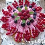 Citromos málna habos torta