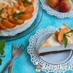 Kajszibarackos túrókrém torta
