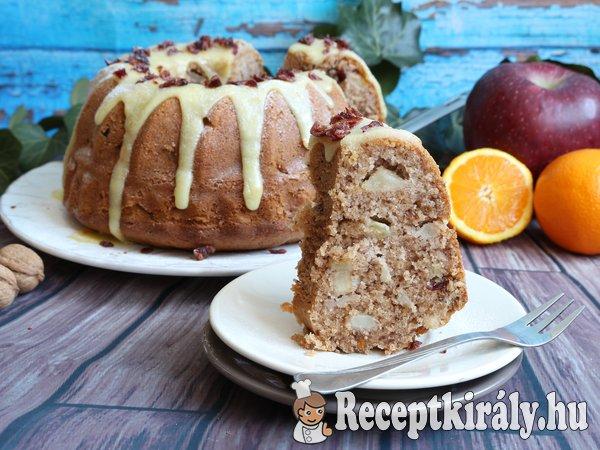 Narancsmázas almás-áfonyás kuglóf
