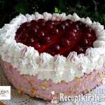 Tejszínes, meggyjoghurtos torta 1