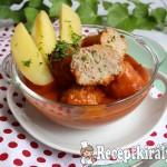 Zöldfűszeres paradicsomos húsgombóc