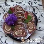 Gesztenyés keksztekercs 1