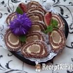 Gesztenyés keksztekercs
