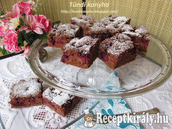 Kakaós-fahéjas szedres sütemény