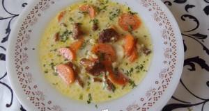 Rókagombás leves