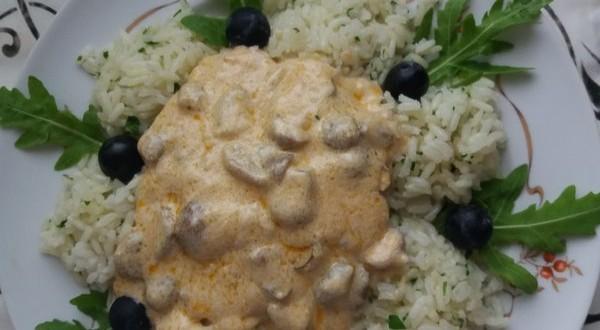 Vargányagombás szelet rizzsel
