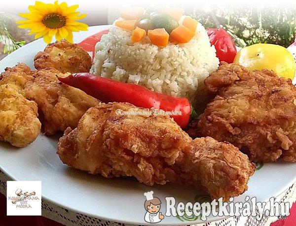 Fokhagymás fordított rántott csirke