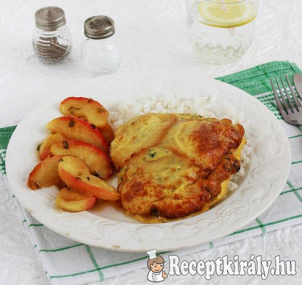 Sajtos csirkemell tejszínes almával