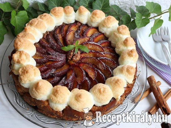 Szilvás máglyarakás torta