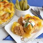 Fűszeres húsgombócok sajttal és burgonyával