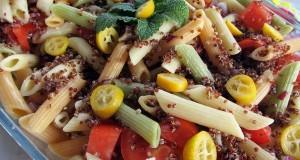 Tésztasaláta vörös quinoával