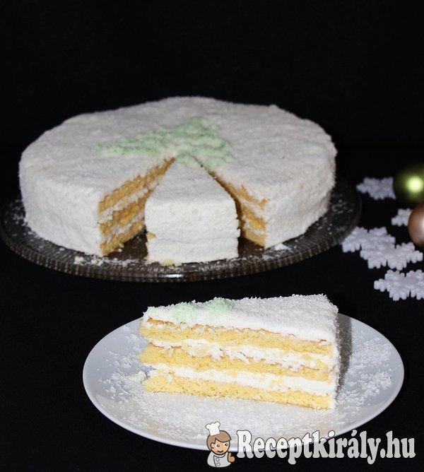 Kókuszos kókuszkrémes torta