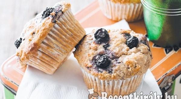 Áfonyás zabpelyhes muffin
