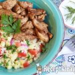 Bulgur saláta roston csirkecsíkokkal 1