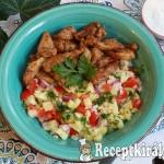 Bulgur saláta roston csirkecsíkokkal 2