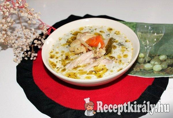 Csirkebecsinált leves csirkeszárnyból