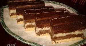 Csoki-kókusz szelet Eta módra